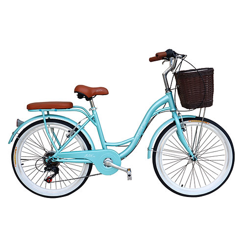 Bicicleta Vintage Box Bike Aros 24 - Verde