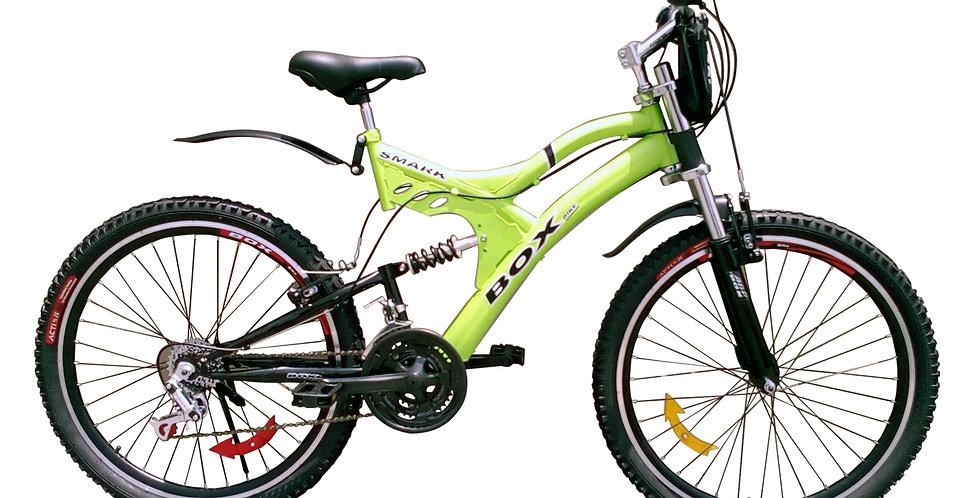 Bicicleta Mtb Aro 26 Doble Amortiguador Unisex -Verde