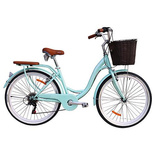 Bicicleta Box Bike Vintage Aros 26 con Shimano - Verde