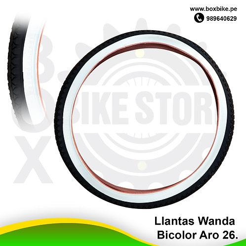 Llantas Wanda Bicolor Aro 26