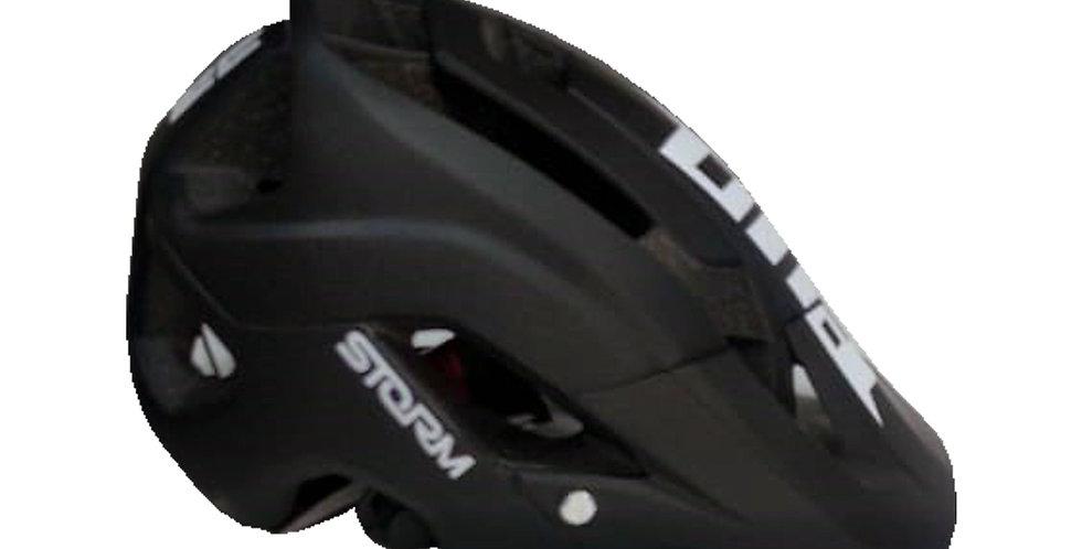 Casco para Ciclista Certificado - Negro con Blanco