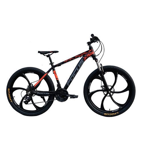 Bicicleta Box Bike Modelo Focus Aro 26 Shimano -  Negro con Naranja