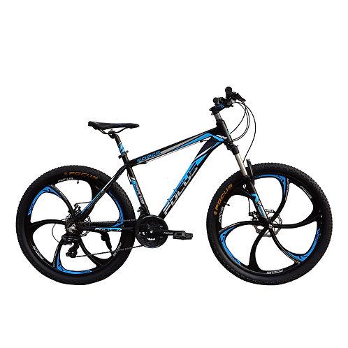 Bicicleta Box Bike Modelo Focus Aro 26 Shimano -  Negro con Azul