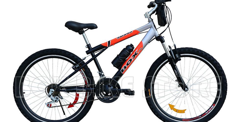 Bicicleta Box Bike MTB Aro 26 con Suspensión Delantera - Negro con Naranja