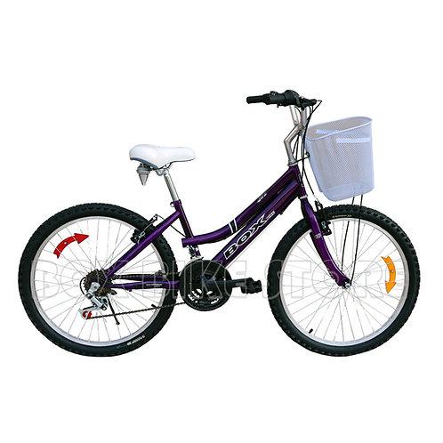 Bicicleta Box Bike Campera Aro 24 - Morado
