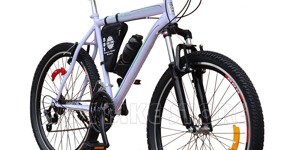 Bicicleta Box Bike Modelo Elite Aro 26 - Full Shimano Blanco & Verde
