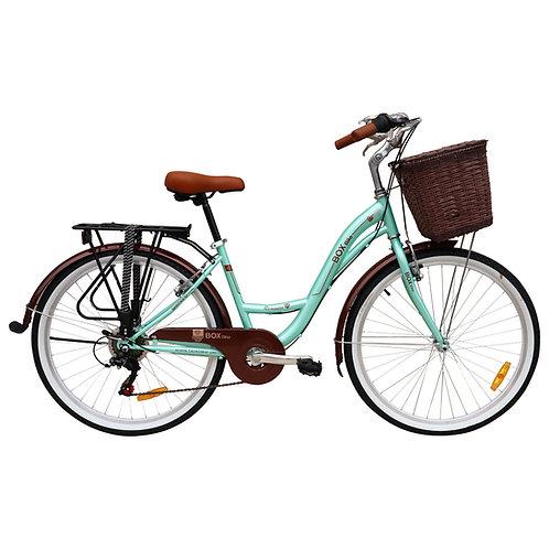 Bicicleta Box Vintage Modelo Romántica Aro 26 - Verde