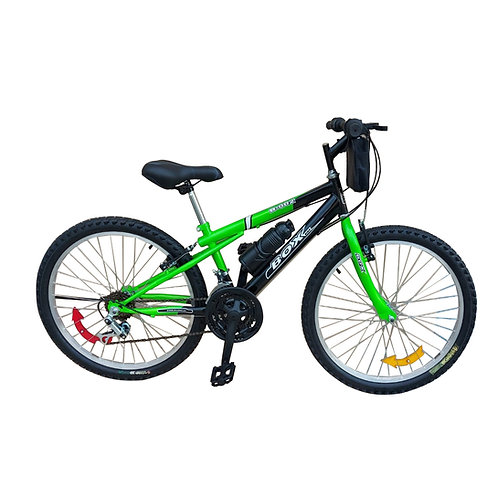 Bicicleta Box Bike MTB Aro 24 Clásica - Verde & Negro