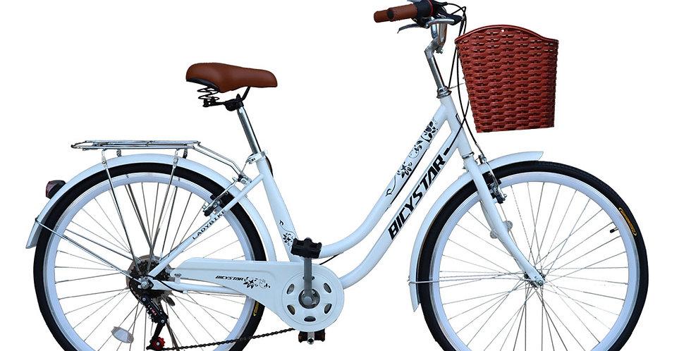 Bicicleta Box Bike Vintage Modelo BicyStar Aros 26 - Blanco