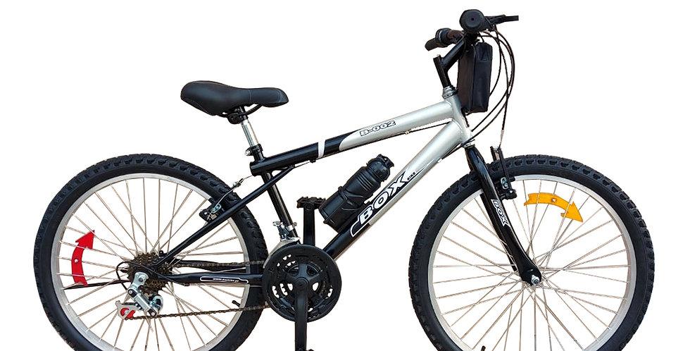 Bicicleta Box Bike MTB Aro 24 Clásica - Negro & Gris