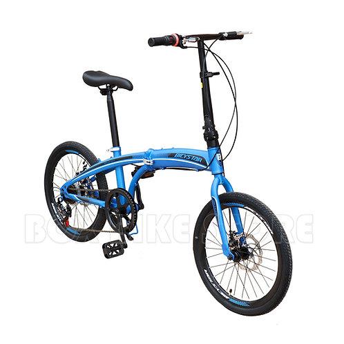 Bicicleta Plegable Aro 20 Con Frenos de Disco  Unisex Modelo 2021 - Azul