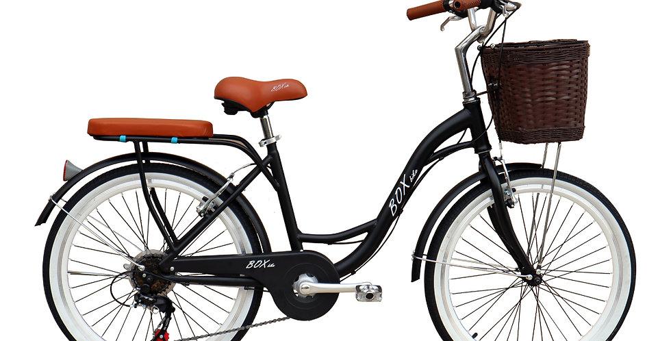 Bicicleta Vintage Box Bike Aros 24 y 26 - Negro