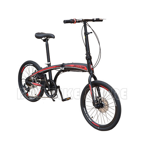 Bicicleta Plegable Aro 20 Con Frenos de Disco  Unisex Modelo 2021 - Negro & Rojo