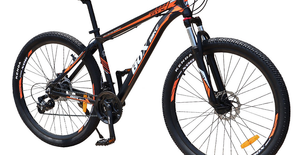 Bicicleta Box Bike MTB 2021 de Aluminio Aros 29 - Negro con Naranja
