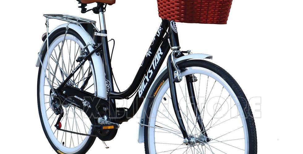 Bicicleta Box Bike Vintage Modelo BicyStar Aros 26 -Negro