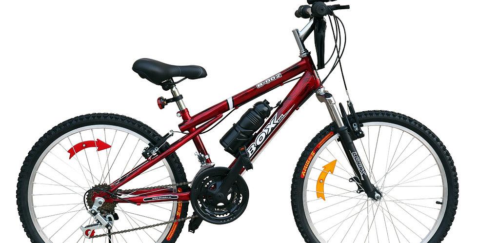 Bicicleta Box Bike MTB con Suspensión Delantera Aro 24 - Rojo