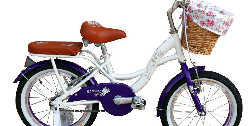 Bicicleta Box Bike  Vintage Aro 16 - Blanco con Morado