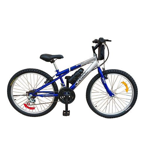 Bicicleta Box Bike MTB Aro 24 Clásica - Azul & Gris