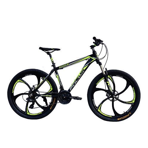 Bicicleta Box Bike Modelo Focus Aro 26 Shimano -  Negro con Amarillo