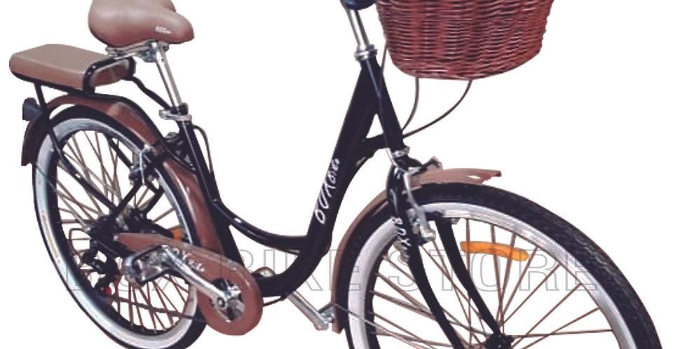 Bicicleta Box Bike Modelo Vintage Aros 24 y 26 - Negro con Marrón