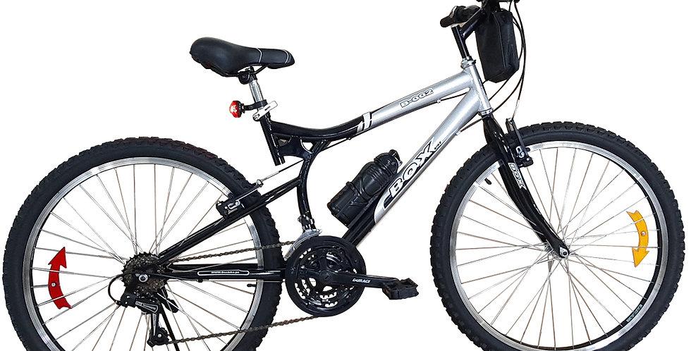 Bicicleta Box Bike con Cambios SHimano Aro 26 - Gris