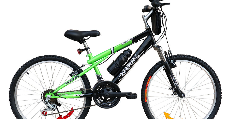 Bicicleta Box Bike MTB con Suspensión Delantera Aro 24 - Negro & Verde