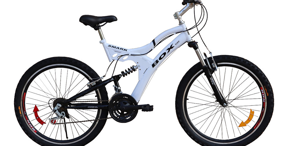 Bicicleta Box Zeus Aro 26 Doble Amortiguador - Blanco