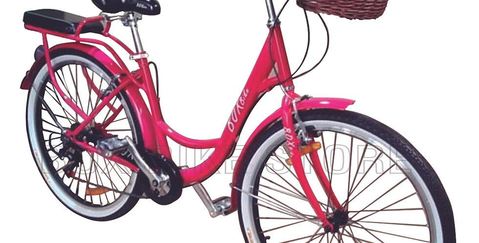 Bicicleta Box Bike Modelo Vintage Aros 24 y 26 - Fucsia