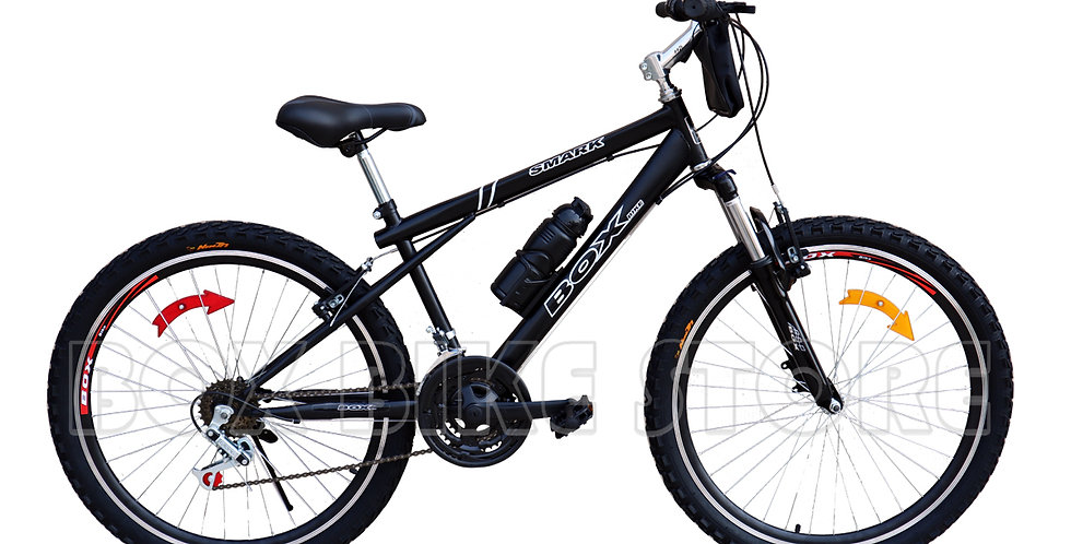 Bicicleta Box Bike MTB con Suspensión Delantera - Negro Entero