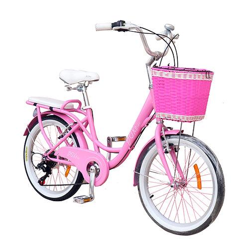 Bicicleta Box Bike con Shimano Vintage Aro 20 - Rosada