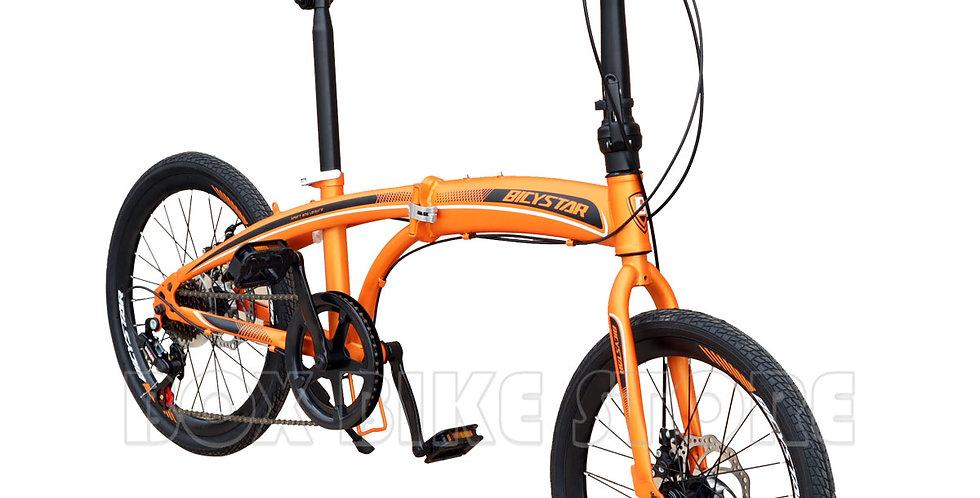 Bicicleta Plegable Aro 20 Con Frenos de Disco  Unisex Modelo 2021 - Naranja