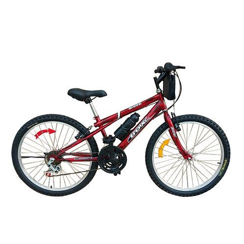 Bicicleta Box Bike MTB Aro 24 Clásica - Rojo