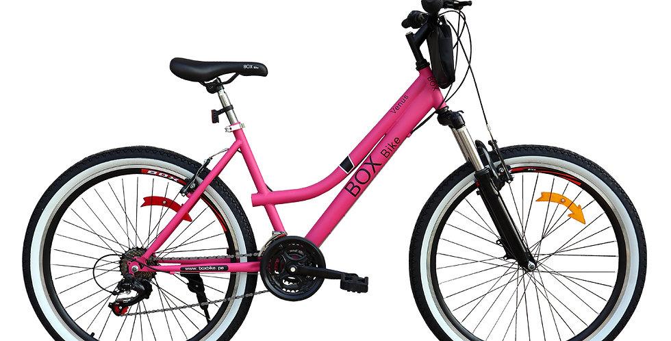Bicicleta Box Bike MTB Con suspensión delantera con Shimano Aro 26 - Fucsia