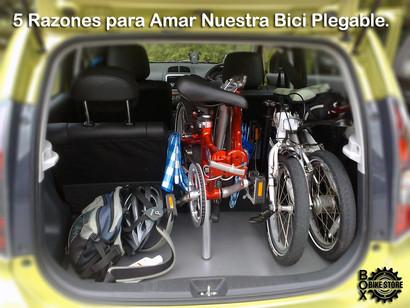 5 Razones para Amar Nuestra Bici Plegable.