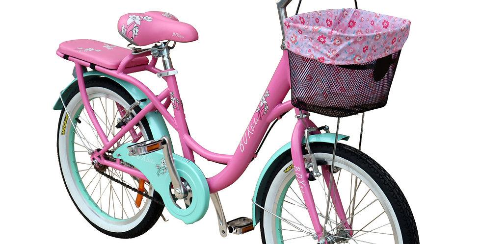 Bicicleta Box Bike Vintage Aro 20 - Rosada con Celeste