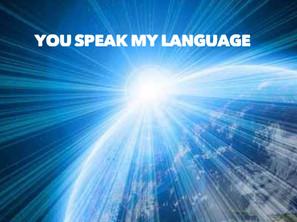 YOU SPEAK MY LANGUAGE
