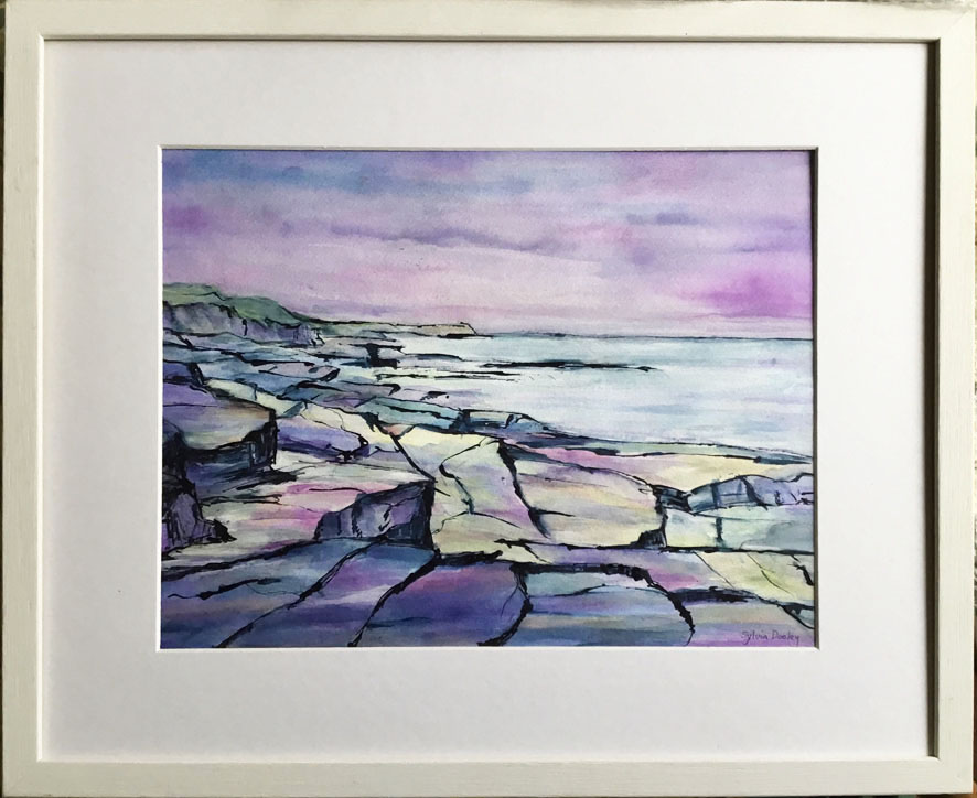 83F Sylvia Dooley On the Rocks Acrylic 500x410mm £95.00