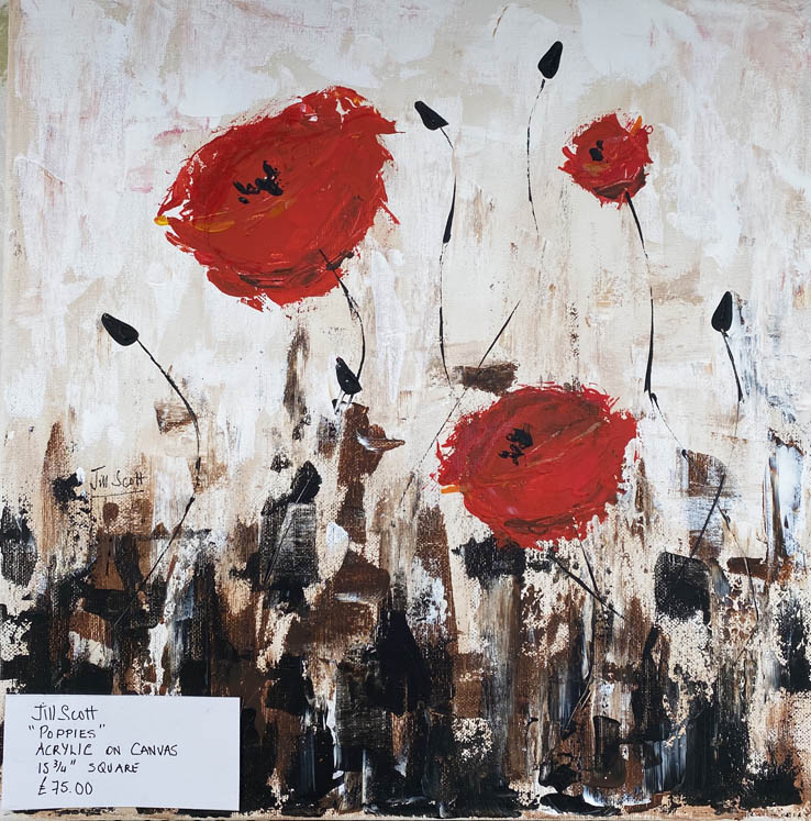 35 Jill Scott Poppies Acrylic 406x406mm