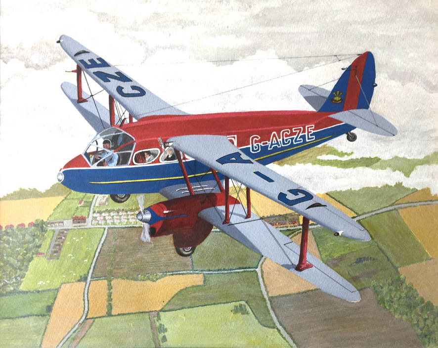 64Peter Harvey DeHavilland Dragon Rapide