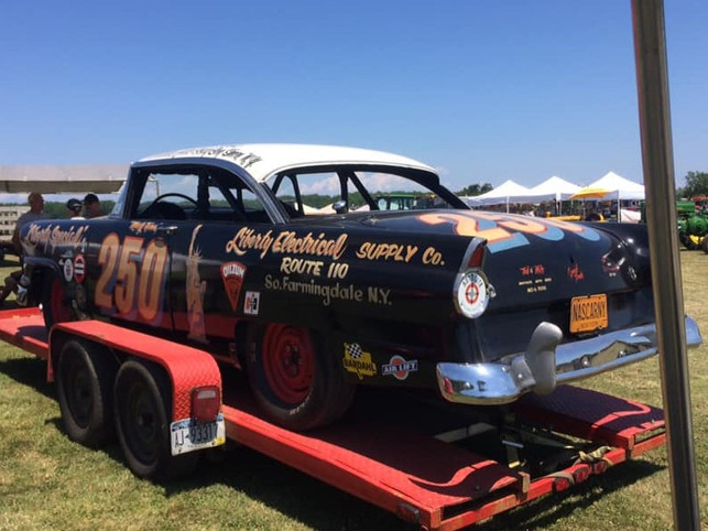 1956 Ford stock car on display