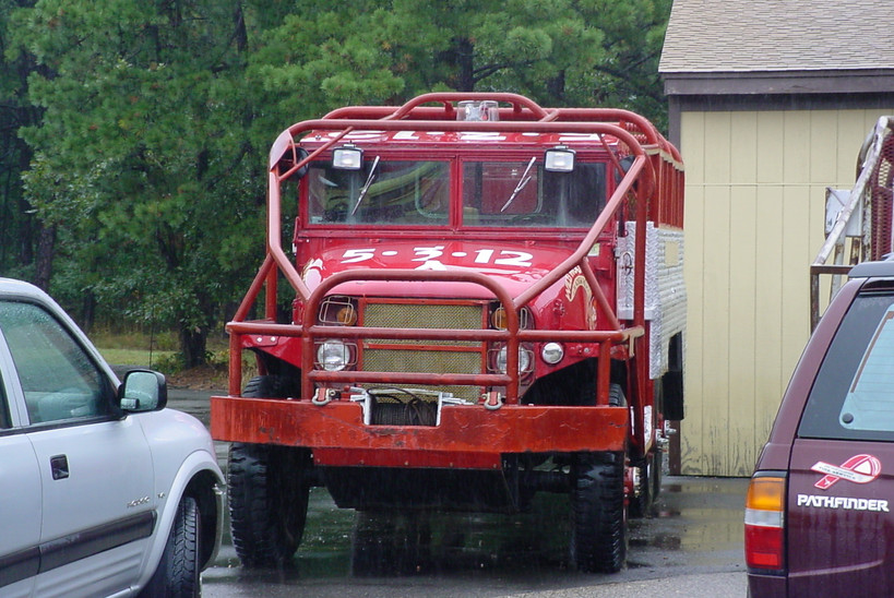 Former Brookhaven F.D. brush truck at second stop Brookhaven Fire Museum