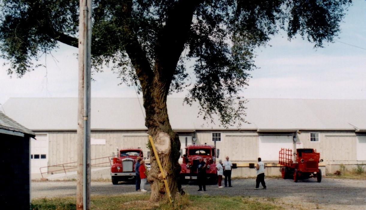 Members trucks at Sunburst Acres farm