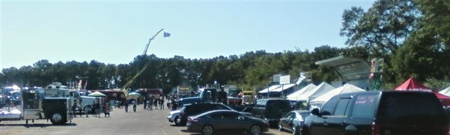 View of the show field