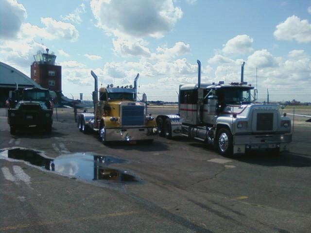 Member's trucks at the American Air Power Museum
