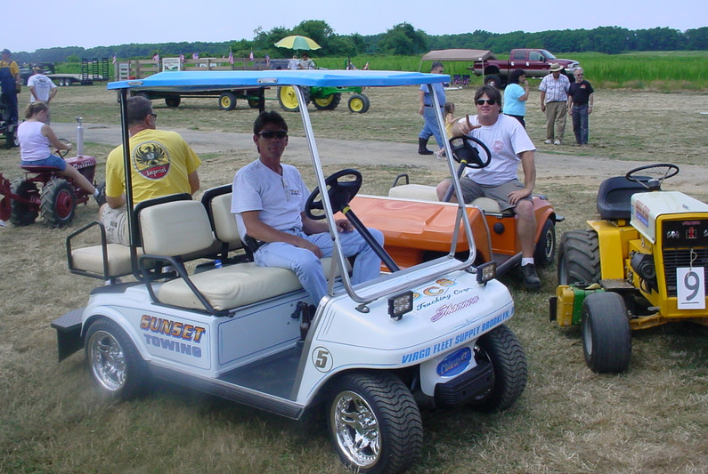 Various forms of transportation around the show grounds