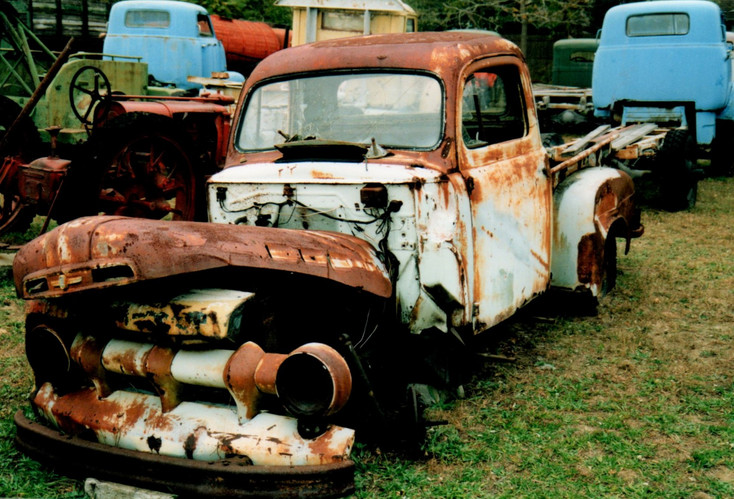 A 1951 Ford in need of repair
