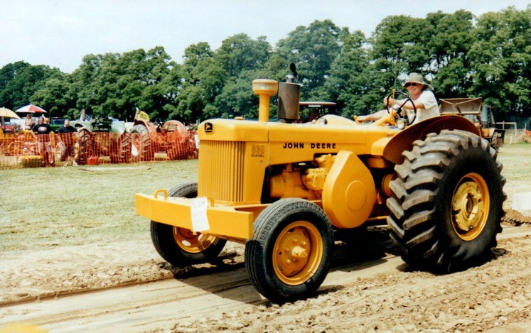 John Deere Industrial tractor on pulling track