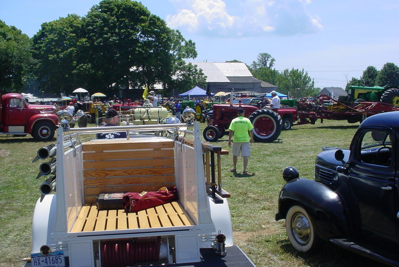 View of trucks & tractors on display