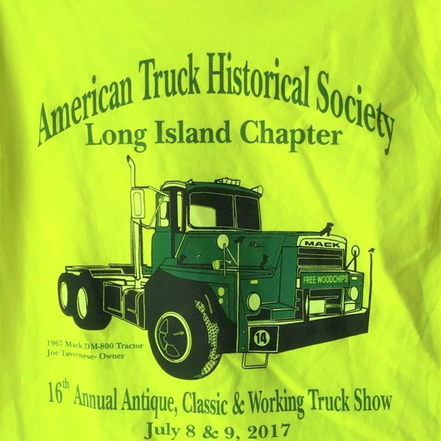 2017 Chapter Truck Show T-shirt (rear) Remaining Adult Sizes - 3-Small & 2-Medium - $5.00ea.