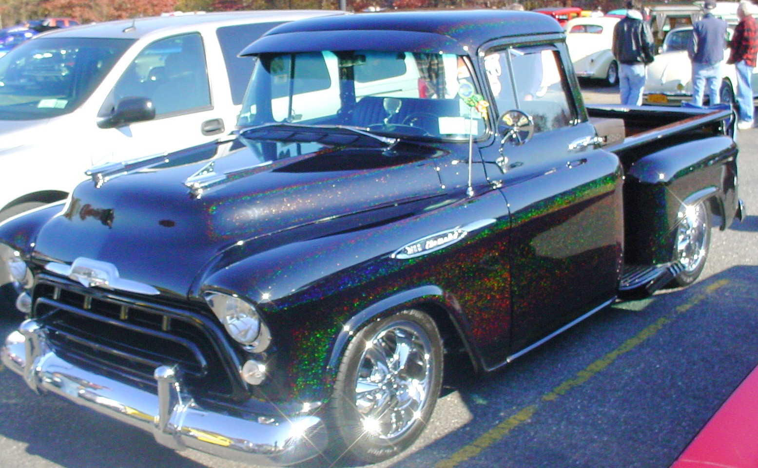 1957 Chevrolet pickup with wild paint